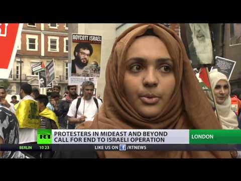 Boycott Israel': Global protests demand end to (Israel)  7/26/14