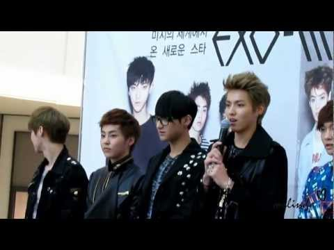 Fancam 120510 EXO-M Fan Sign Event - Inroduction