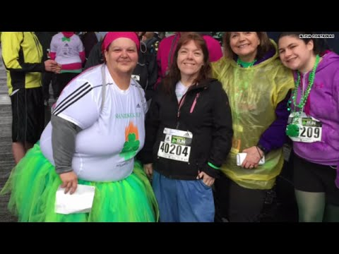 Woman completes 1st 5K since dropping 185 lbs.
