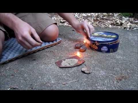 فيديو: تعلّم طريقة إشعال النار بواسطة حجَرين !