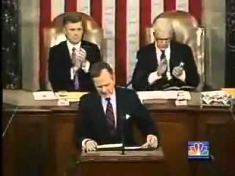 George Bush Sr.  New World Order Live Speech  Sept 11 1991