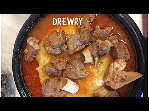 How to make light soup with lamb meat GHANA