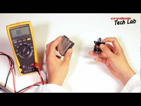 Crydom TechLab 1 - How to perform an operational on-off test on a solid state relay