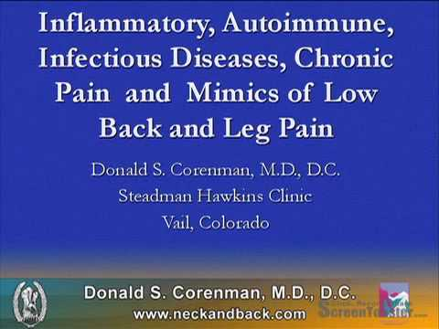 Inflammatory, Autoimmune, Infectious Diseases (Part 1) | Mimics of Low Back Pain | CO Spine Surgeon