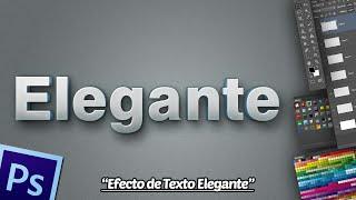 Tutorial Photoshop: Efecto Texto Elegante + Logo.