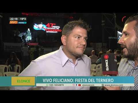 Fiesta Provincial del Ternero Entrerriano: Habló el intendente de Feliciano en la última noche