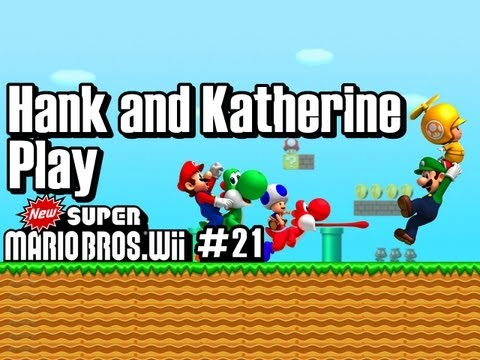 Hank & Katherine Play SUPER MARIO BROS WII #21 - SO TIRED