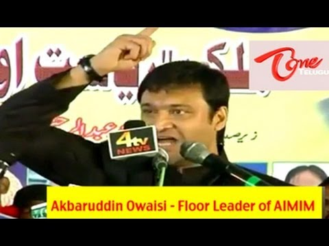 Akbaruddin Owaisi's hate speech at Nirmal, Adilabad Dist - Full Length Video
