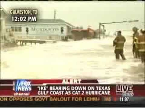 Geraldo in Hurricane Ike