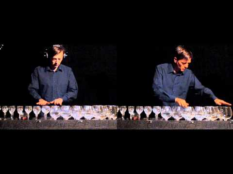 Ave Maria on glass harp