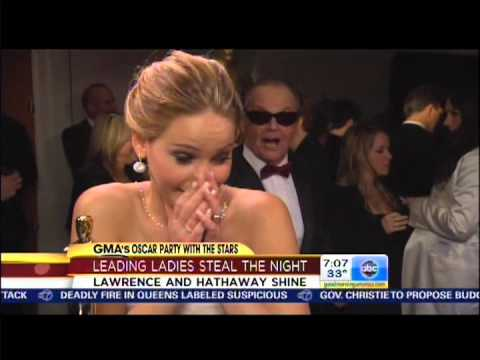 Jennifer Lawrence meeting Jack Nicholson for the first time (02.24.13)