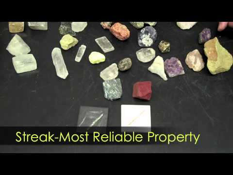 Mineral Characteristics - Hommocks Earth Science Department
