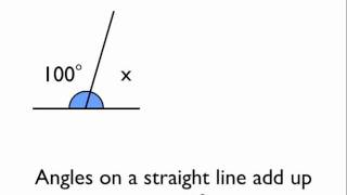 Angles on a straight line - YouTube