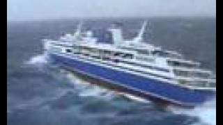 Heavy Sea Cruiser Liner Grand Voyager Against The Waves YouTube - Grand voyager cruise ship