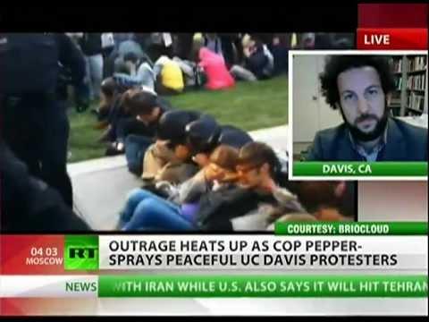 UC -- Davis faculty livid about pepper spray assault