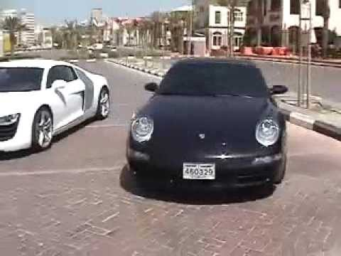 Audi R8 vs Audi RS4 vs BMW M6 vs Porsche Carrera S