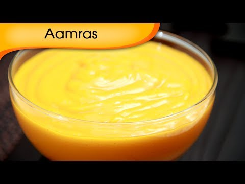 Aamras - Sweet Mango Shake Recipe - Vegetarian [HD]