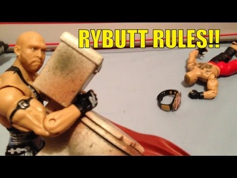 GTS WRESTLING: BS title match! figure matches WWE action figures parody animaion stop motion funny