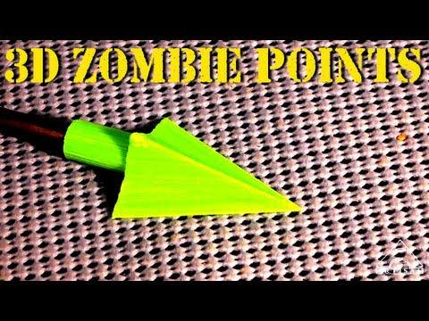 3D Printed Zombie Arrow Head