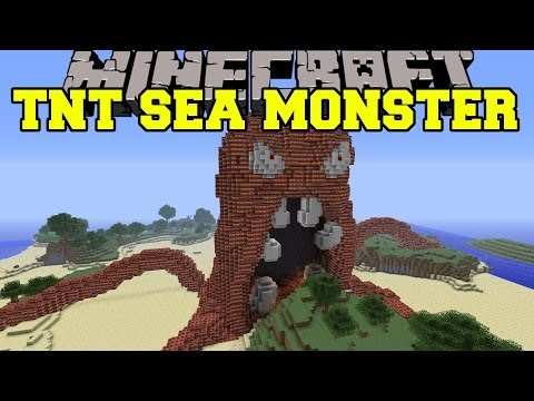 Minecraft: EVIL SEA MONSTER VS TNT - Build Creation - Map
