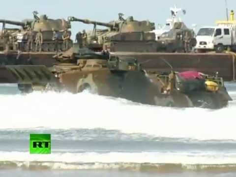 A 62 años del inicio de la guerra, Corea del Sur continúa con sus ejercicios militares