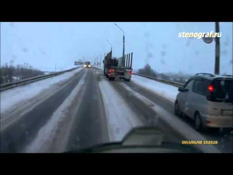 ДТП Лесовоз и два автобуса, Сыктывкар, январь 2014