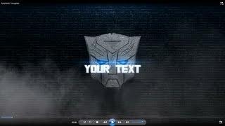 FREE CINEMA4D Intro Template: Transformers - AUTOBOTS