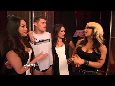Kaitlyn encounters Cody Rhodes and The Bella Twins: Raw, March 18, 2013