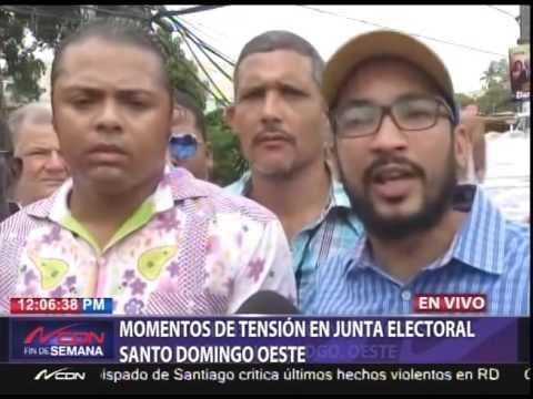 Momentos de tensión en Junta Electoral Santo Domingo Oeste