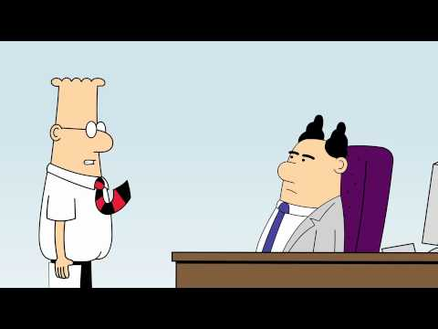 Dilbert Animated Cartoons - Self-Aware Spam Filter, Business Travel and Clueless Nimrods