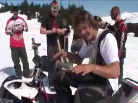 Daniel Bodin world record Backflip Snowmobile
