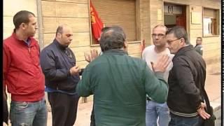 PROTESTA LAVORATORI DITTE APPALTO ARSENALE DAVANTI A CONFINDUSTRIA TARANTO