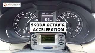 Skoda Octavia 2.0 TDI 150 KM (on wet) - acceleration 0-100 km/h