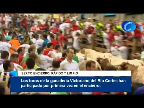 San Fermín: Sexto encierro, rápido y limpio