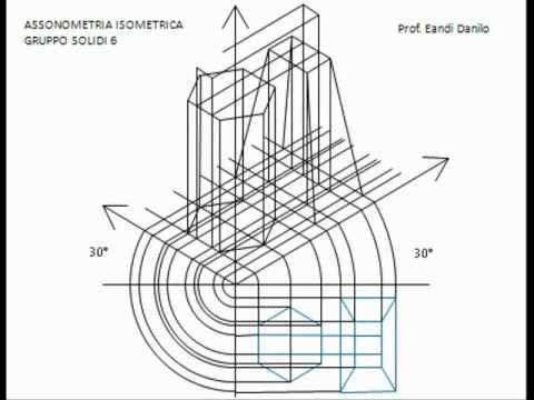 Assonometria isometrica gruppo solidi 6