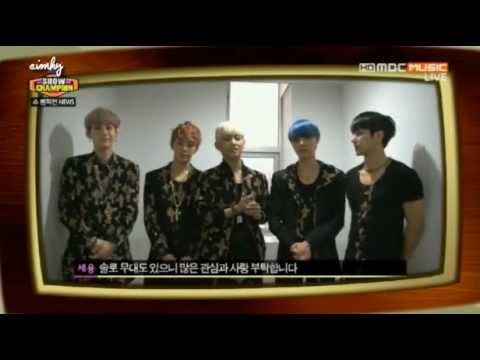 130227 B.A.P SPEED MR.MR G Dragon SHINee MYNAME SE7EN SHINHWA Super Junior ShowChampion News
