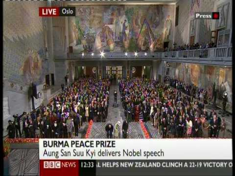 Aung San Suu Kyi's Nobel Peace Prize acceptance speech (Part-1)