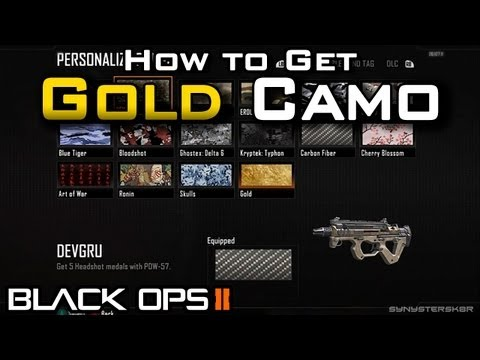 Gold Camo Black Ops 2 Gold Camo in Black Ops 2