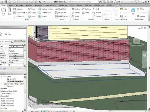 Advanced Revit Architecture 2012 Tutorial - Sloping Floors