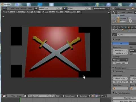 Blender Tutorial Beginner Use Curves Create Logos etc.