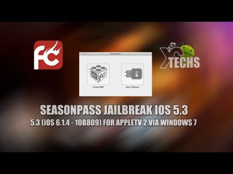 Seas0nPass Tethered Jailbreak 5.3 (iOS 6.1.4 - 10B809) For AppleTV 2