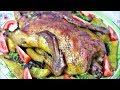 Утка в духовке ( в рукаве ) с яблоками и картошкой / Рецепт сочной праздничной утки