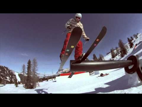Dolomiti Superski - Pat and Niki visited the Snowpark Alta Badia and the King Laurin Park.mp4