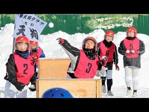 震災に負けないぞ、天栄村でスポーツ雪合戦