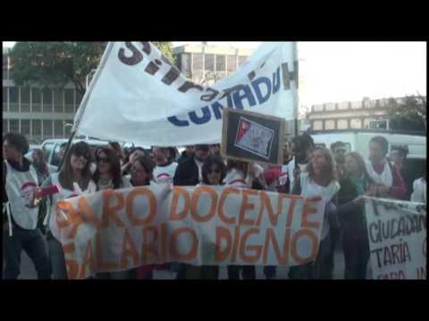 <b>Marcha por la universidad pública. </b>Frigerio eludió la protesta
