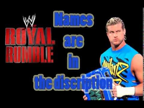 WWE Royal Rumble 2013 Official Entrants