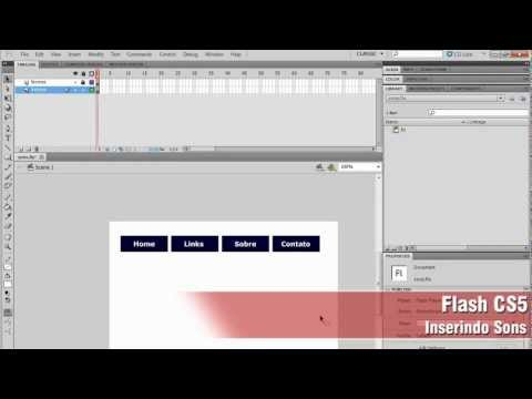 Aprenda a usar o Flash CS5 - Aula 17 -- Inserindo Sons