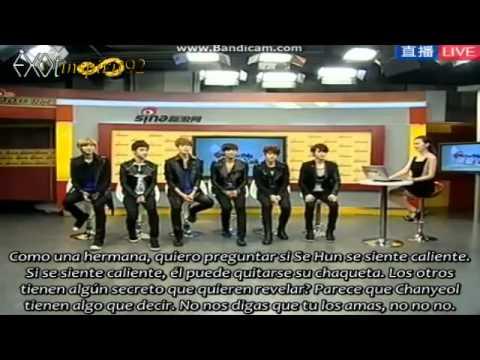 [Sub Español] 120918 EXO-K Interview @ Sina Live Chat Parte 3/7