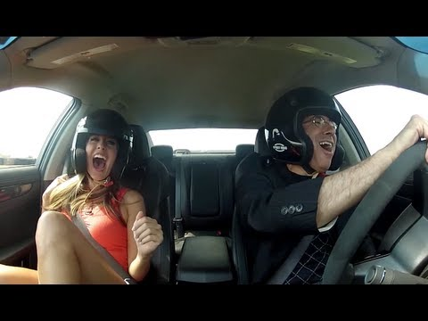 Leo Parente: Cadillac CTS-V Andrea Feczko Scream Test - 2012 DRIVE Host Competition