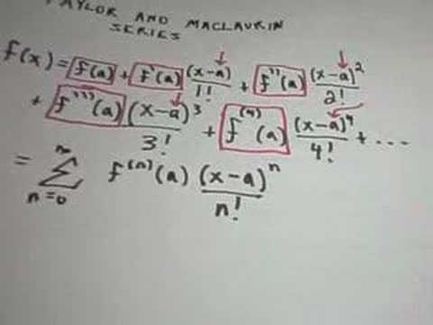 Taylor and Maclaurin Series - Example 1